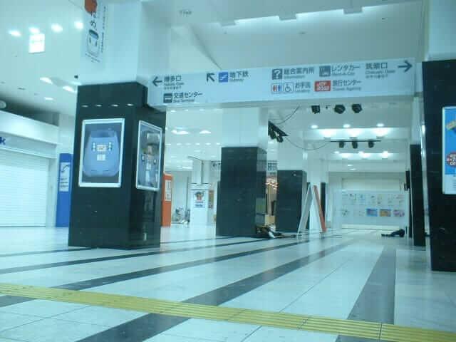 博多駅で泊まり大学へ